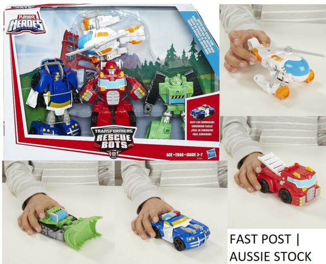 Transformers Rescue Bots Griffin Rock Rescue Team Playskool Heroes 4 Piece Set
