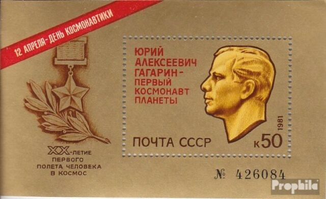 Soviet-Union block150 (complete issue) used 1981 20 J. Manned S
