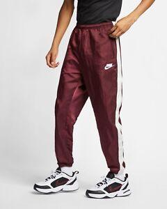 Nike-Sportswear-NSW-Trackpants-Men-039-s-New-Woven-Trousers-Night-Maroon-AR1628-681