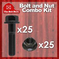 (25) M6-1.0x35 Class 10.9 Din Hex Flange Bolts & (25) M6-1.0 Flange Lock Nuts