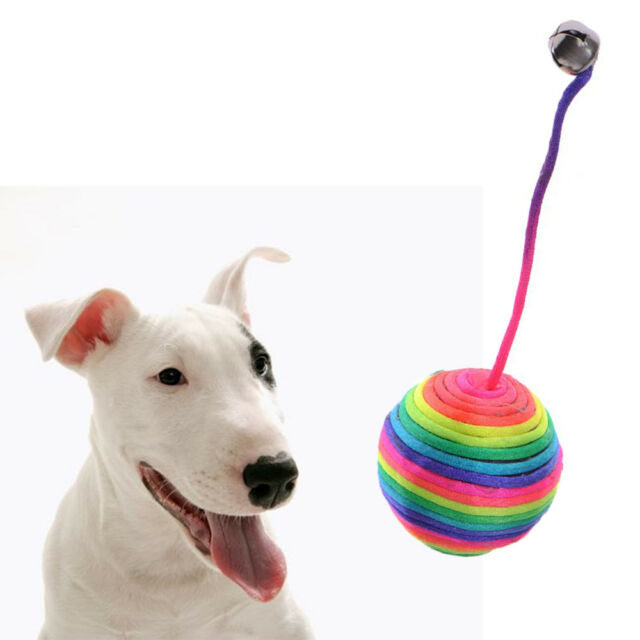 Pet Toys Dog Cat Kitten Teaser Play Chew Rattling Scratch Catch Rope Weave Ball