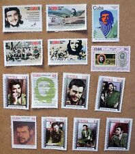 STAMPS CARIBE, MINT CHE GUEVARA LOT OF 14 STAMPS SELLOS FRANCOBOLLI
