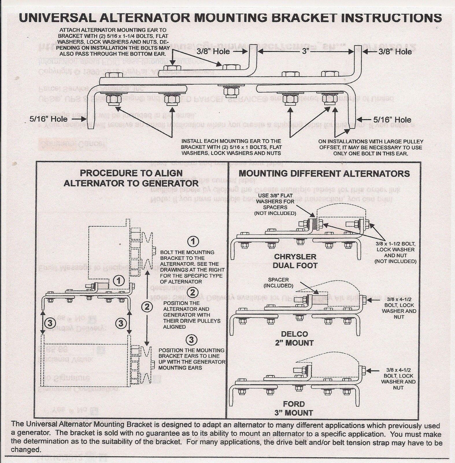 Universal Generator To Alternator Bracket S 1508 Gdr 910 A 200 Ebay Alternators Parts Diagram Mounting