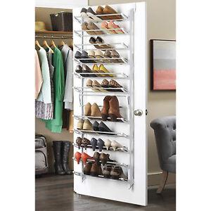 Door Hanging Shoe Rack.Details About 36 Pair Over The Door Hanging Shoe Rack 12 Tier Shelf Organizer Storage Stand Bs