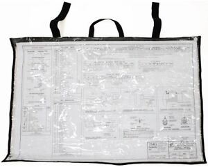 AdirOffice Clear Plan Weather Resist 24 x 36 Blue Print Protection Shield