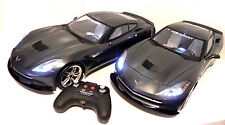 NEW BRIGHT 1:8 SCALE GRAY CHEVY CORVETTE STING RAY 9.6V LOT OF TWO