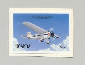 Uganda-547-Aviation-Aircraft-1v-Imperf-Chromalin-Proof-on-Card