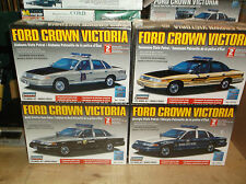 Lot of 4 different Lindberg Ford Crown Victoria State Patrol 1/25 Scale Models