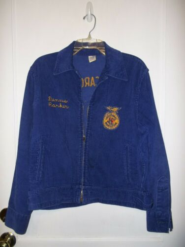 Vintage 1968 FFA Blue Corduroy Jacket North Caroli