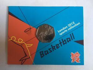 (scellé) 2012 Londres Jeux Olympiques 50p Monnaie Royale Universel Coin Basketball-afficher Le Titre D'origine Promouvoir La Santé Et GuéRir Les Maladies