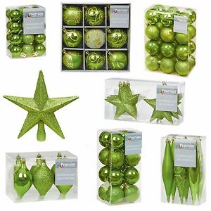Image Is Loading A Green Collection Christmas Decorations Baubles Stars Cones