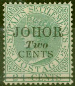 Johore-1891-2c-sur-24c-Vert-SG17-Fin-Inutilise