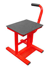 MOTOCROSS STAND PRO LIFT STAND EASY LIFT UP MX ENDURO OFF ROAD BIKE STAND RED