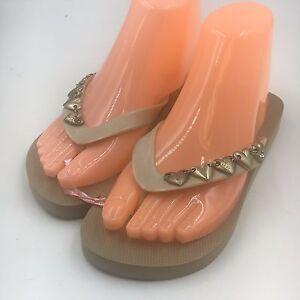 06a4aebb120 BCBGeneration BCBG Shoes Size 6 Womens New Gold Gavinn 2 Thong Flip ...