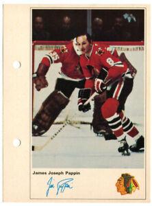 1971-72 Toronto Sun Jim Pappin Action Photo Chicago Black Hawks