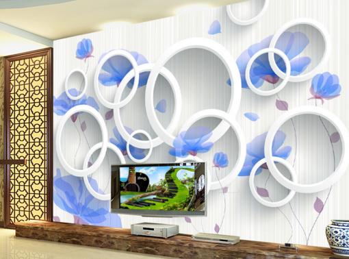 3D Circle Petal 5781 Wallpaper Murals Wall Print Wallpaper Mural AJ WALL UK Kyra