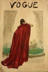 Original-Cover-Only-Vogue-October-1935-Eric-Art-Deco-Illustrator-Carl-Erickson