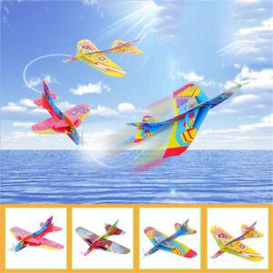 Flying-Back-Magic-Swing-Plane-360-Cyclotron-Airplane-Kids-DIY-Model-Gift-Toys-JR