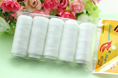 Sewing Thread Polyester Machine Hand Craft DIY 5*200yads Home Tools
