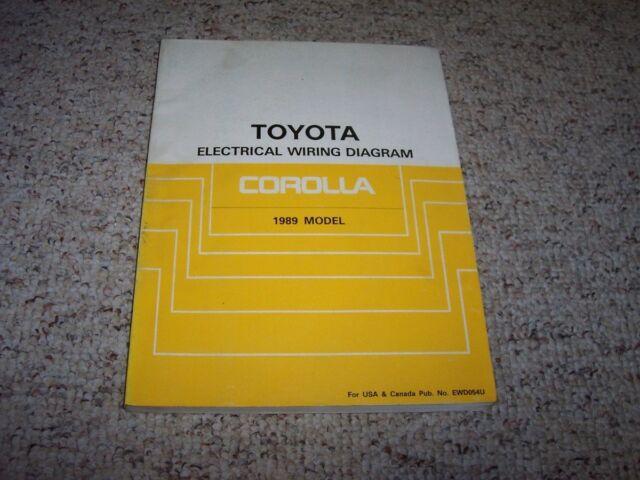 1989 Toyota Corolla Electrical Wiring Diagram Manual Sr5