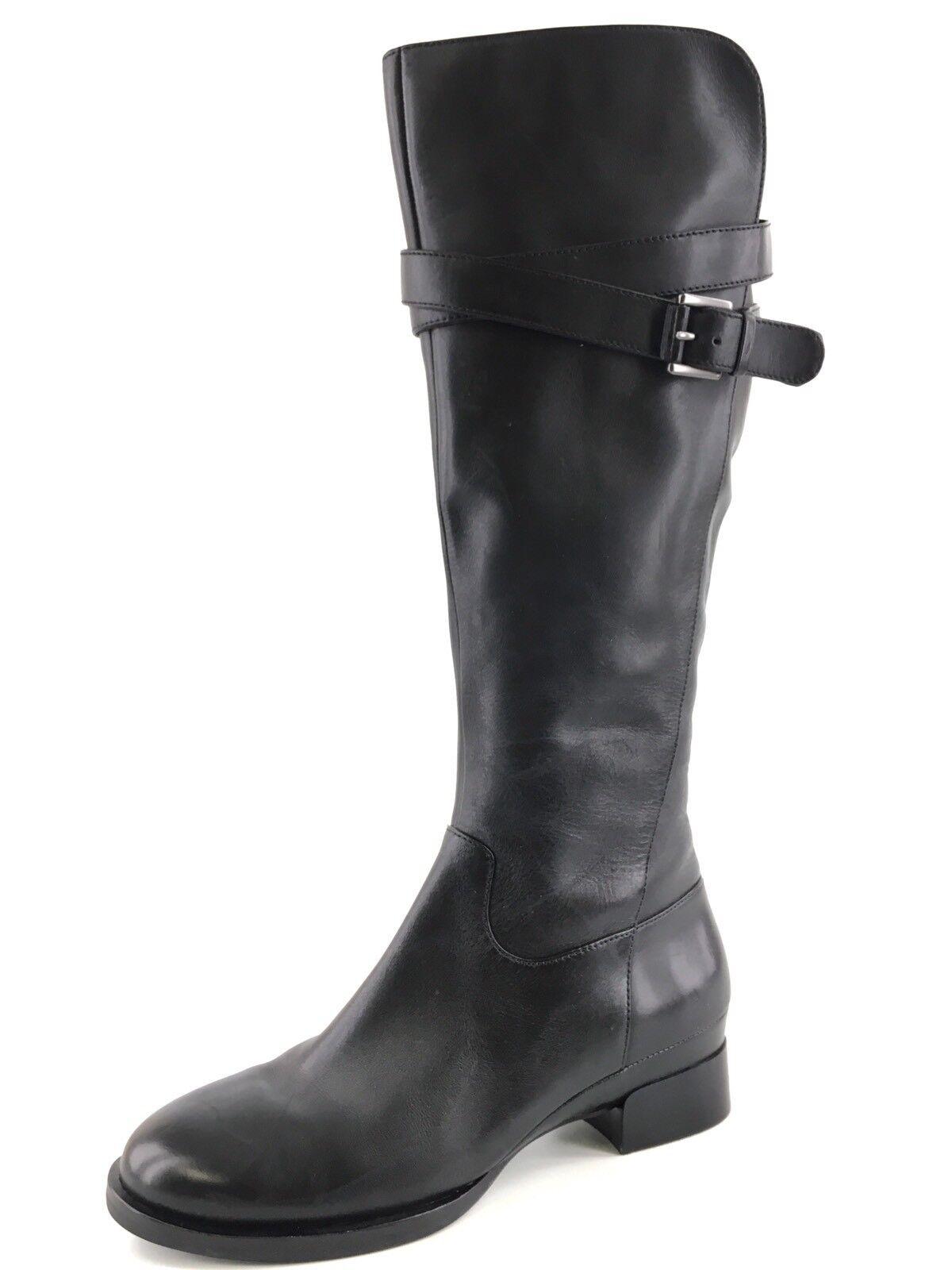 Ecco Hobart De Cuero Negro Con Hebilla De Rodilla Alto Alto Alto botas De Montar Para Mujer Talla 36 M 0007  precios razonables