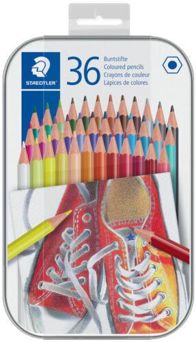 STAEDTLER Hexagonal-Buntstift 36er Metall-Etui