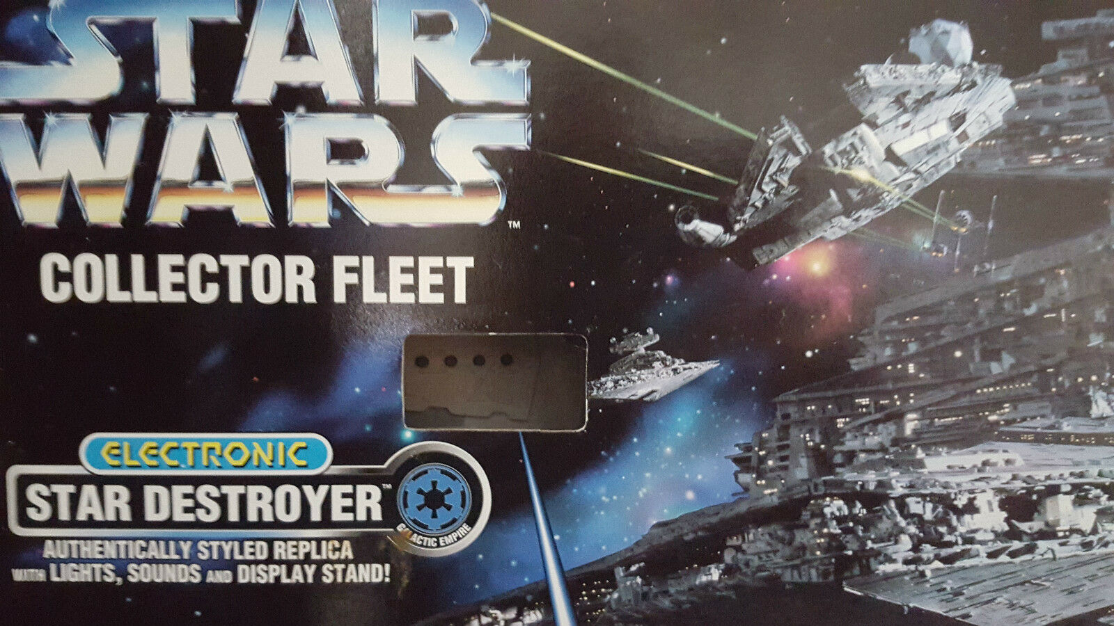 Star Wars Star Destroyer Fleet Collection Electronic Boxed 1996 Last NEW One.
