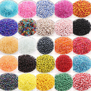 100Pcs Colorful Round Czech Glass Spacer Loose Beads Jewelry Findings 4/4x3mm