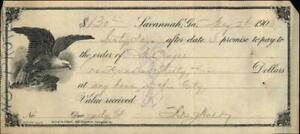 1903 Savannah Georgia (GA) promissory note M. Prager