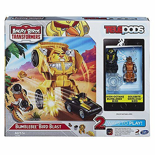 Transformers Telepods Angry Birds Bumblebee Bird Blast App Playset New