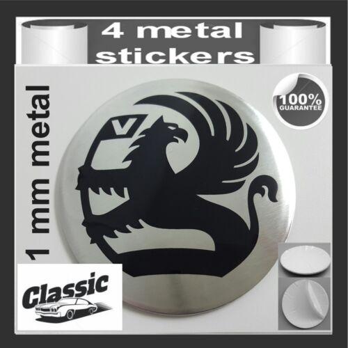 METAL STICKERS WHEELS CENTER CAPS Centro LLantas 4pcs Classic VAUXHALL 5