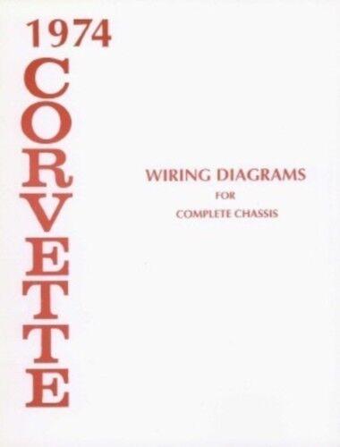 CORVETTE 1974 Wiring Diagram 74 Vette