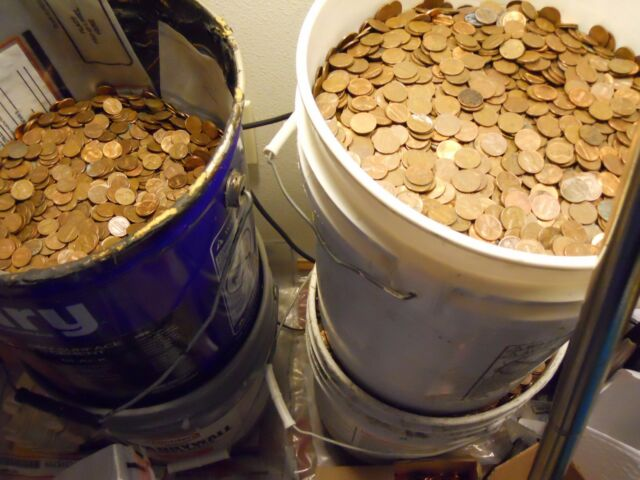 $150 Face Value US Copper Pennies Machine Sorted 1959-1982 99 LBS 15,000 Coins
