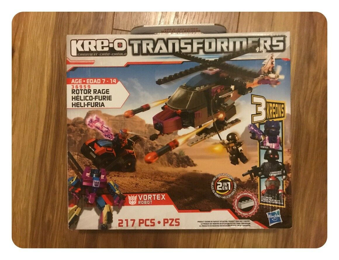 Kre-O Transformers redor Rage Vortex 217 Piece Kit - New Sealed