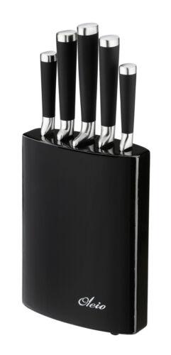 OLEIO PROFI SCHWARZ Serie glänzender Oberfläche OLEIO Messerblock mit Messer