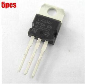 5Pcs L7905 7905 TO-220 ST Voltage Regulator 5V IC NEW HIGH QUALITY
