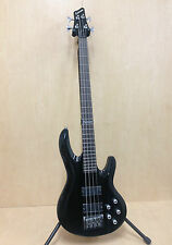 Crimson SBG378BK Active Mics Type Thru-Neck 4-String Electric Bass Guitar,Black
