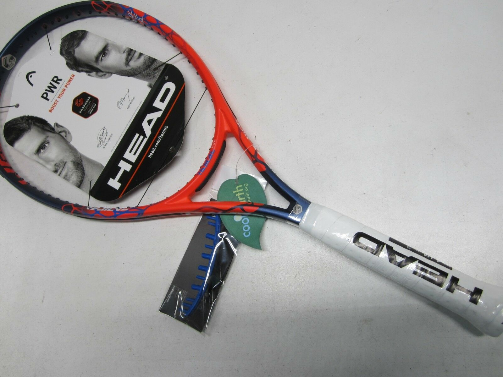 NEW W  DEFECT 2018 HEAD GRAPHENE TOUCH RADICAL  PWR  TENNIS RACQUET (4 1 4)