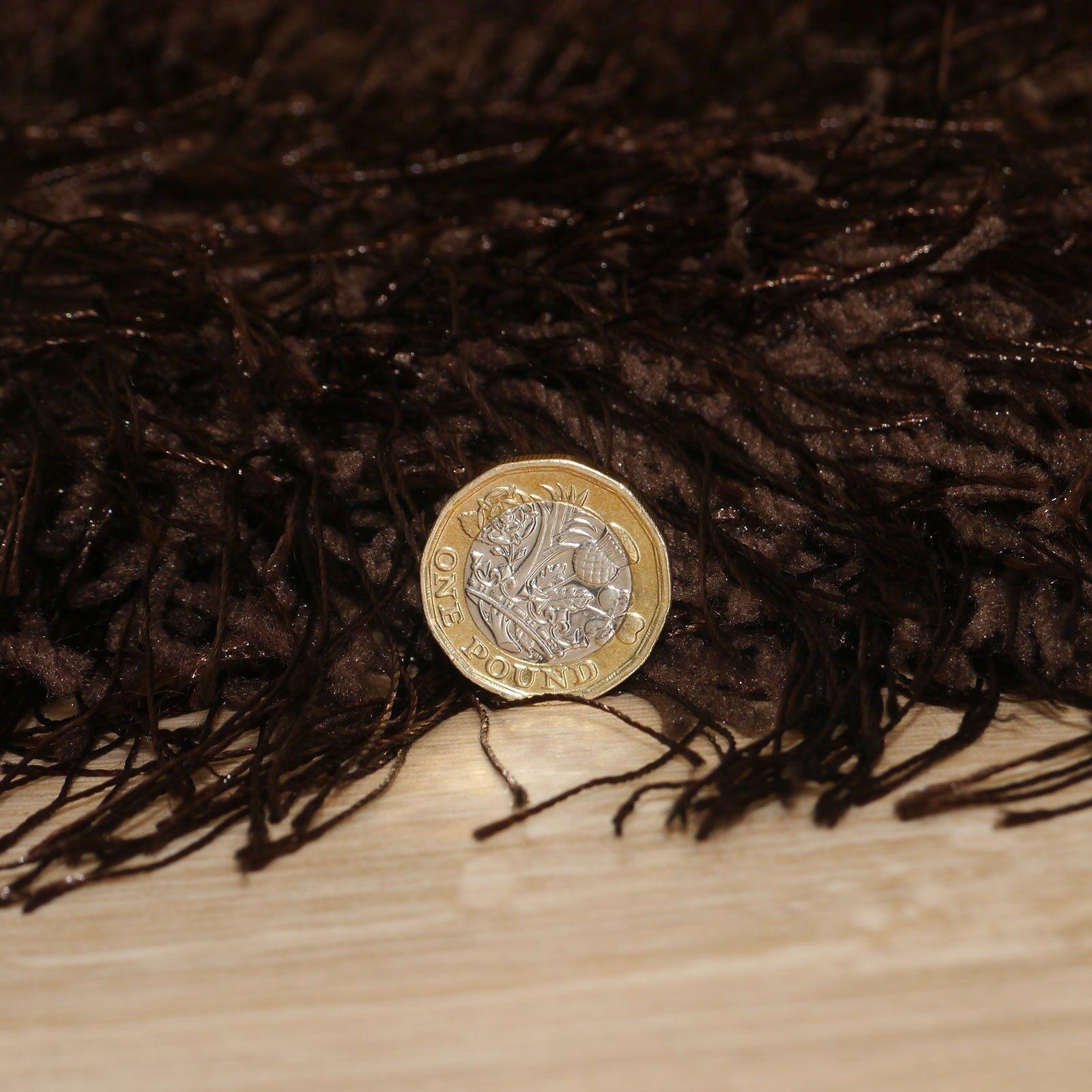 Très Très Très Épais 9cm Surface Douce Tapis Shaggy en Gris Marron Rouge Caramel Crème   Attrayant Et Durable  56fc48