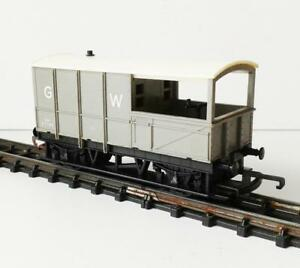 TRI-ANG-GW57740-BRAKE-VAN-WAGON-GREY-R124-OO-guage-made-in-England