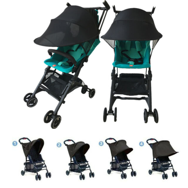 Black Universal Baby Child Pushchair Stroller Pram Buggy Sun Shade Canopy Cover