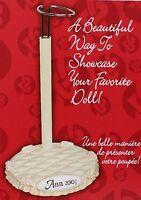 Fibre Craft Signature Series Decorative Adjustable Doll Stand For 13-18 Dolls