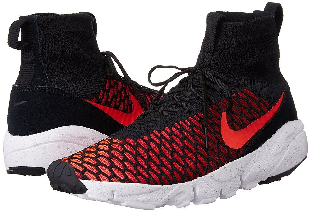 Nike Air Footscape Magista Flyknit Men's Shoes Athletic Sneakers, Gym Red/Black