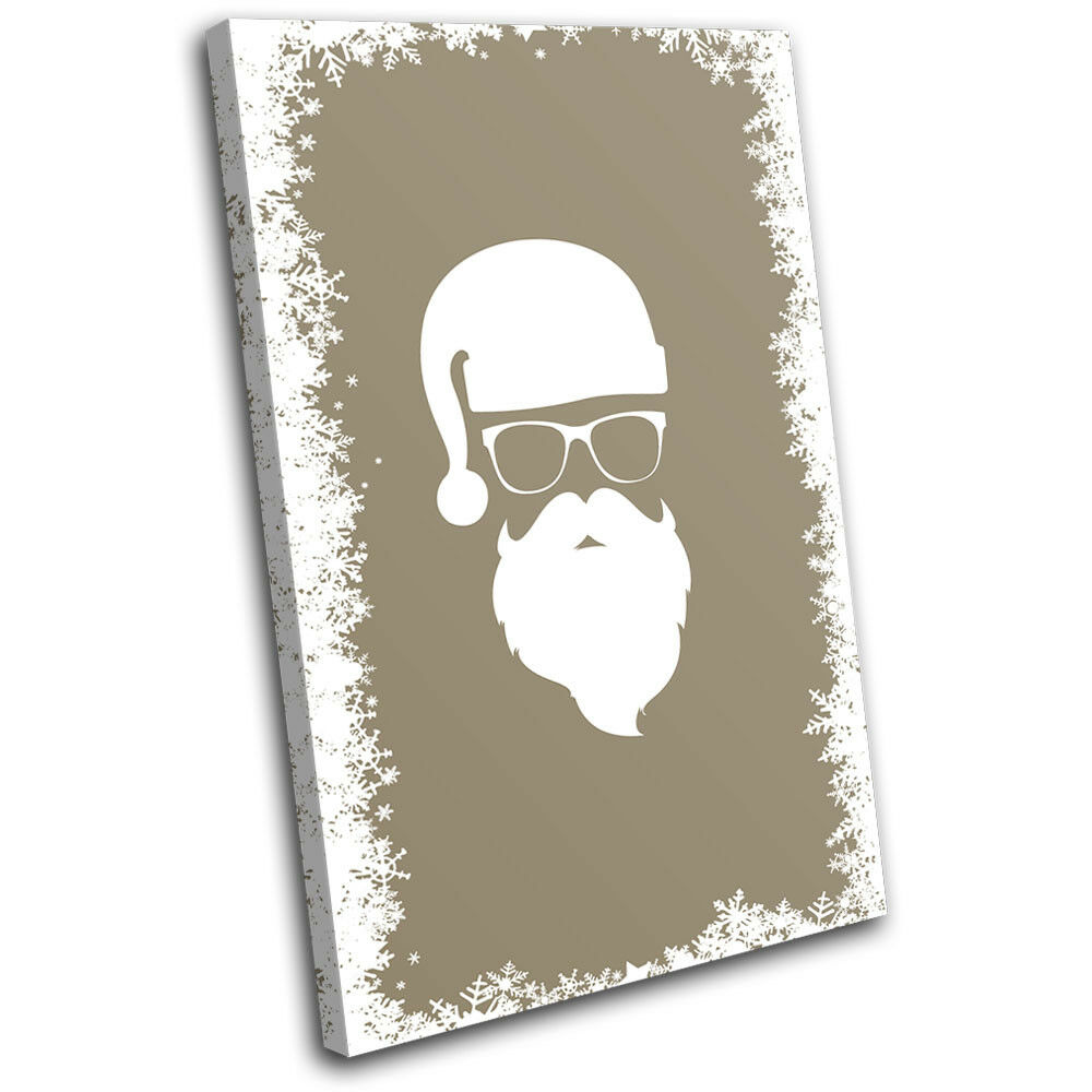 Christmas Decoration Wall Canvas ART Print XMAS Picture Gift  10 Cream Christmas