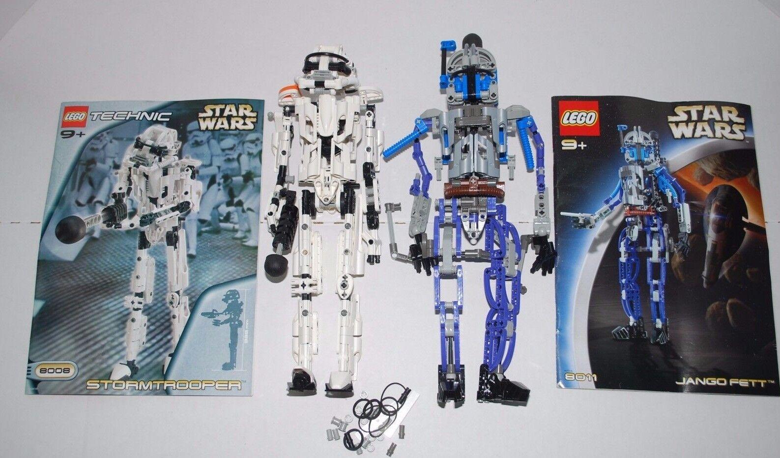 Lego Technic Star Wars Storm Trooper Jango Fett Manuals Toys AS IS
