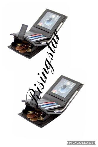 Mens Mans Soft GENUINE REAL Leather Wallet Credit Card Gents Hide Wallets