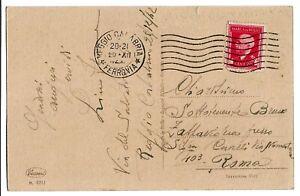 Regno-Marca-da-Bollo-cent-20-su-cartolina-illustrata-per-rOMA-1942