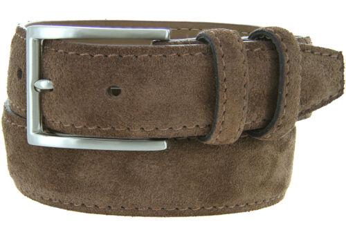"Granada 100/% Suede Nubuck Leather Dress Belt 1-3//8/"" Wide"
