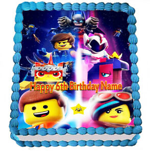 Pleasing Lego Movie 2 Edible Icing Cake Topper Party Image Frosting Sheet Birthday Cards Printable Trancafe Filternl