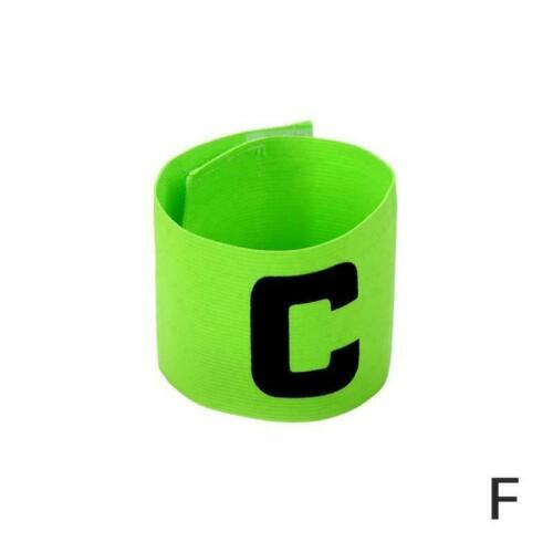 Player Group Armband Football Badge Band Soccer Captain Size Adjustable E2Z3